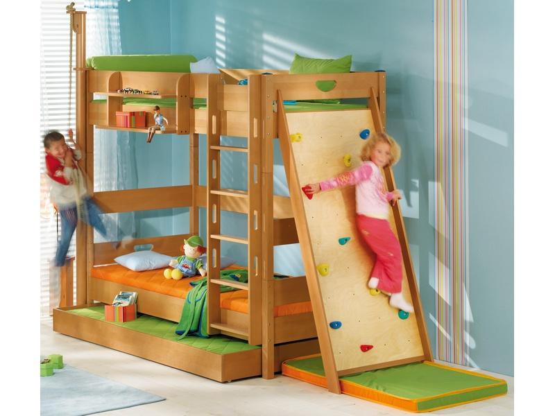 """Детская двухъярусная кровать """"Varietta"""" из массива бука"""