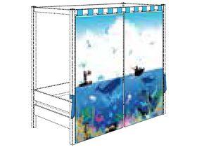 """Комплект занавесов """"Океан"""" (вуаль) для высокого балдахина для кровати 90х200 см"""