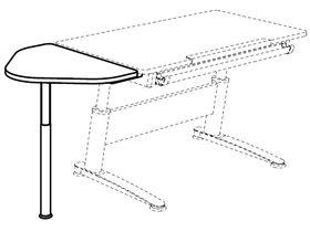 Приставка треугольная к столу Falko