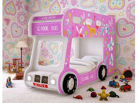 """Двухъярусная кровать машина для девочек """"Автобус Лето"""""""