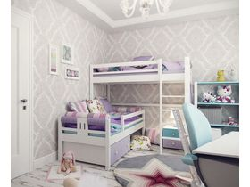"""Детская спальня для двух девочек """"Нежные лилии"""""""