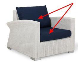 Чехлы для подушек на кресло/софу WING