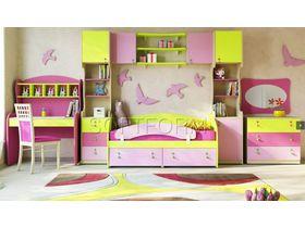 """Детская стенка с кроватью и столом """"МИА"""" (Комбинация 2)"""