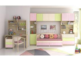 """Детская комната """"Миа Matex"""" с цветными яркими фасадами и рифленой матовой поверхностью"""