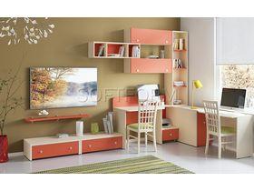 """Набор мебели для школьника  в яркой цветовой гамме """"Силуэт"""""""