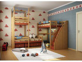 """Детская комната """"Алые паруса"""" с кроватями из массива бука"""