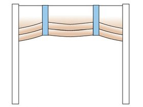 Штора-стенка римская на торцевую сторону кровати