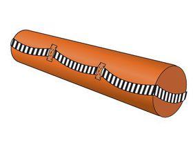 Подушка-валик D=18 см с полосой