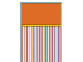 Покрывало с разноцветными полосами и оранжевой вставкой