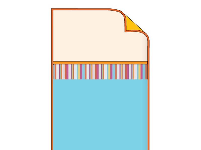Покрывало бирюзовое с разноцветными полосами