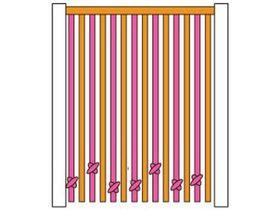 Штора-стенка веревочная на фасадную сторону кровати
