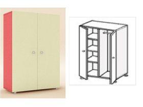 Шкаф 2-х дверный (полки + штанга)
