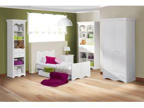 """Мебель для детской комнаты """"Принцесса"""" из массива в белом цвете"""