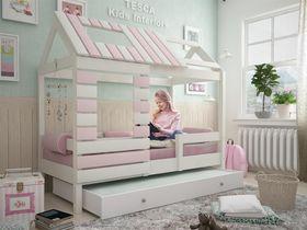 """Кровать - домик """"Eco House"""" из массива бука в розовом цвете"""