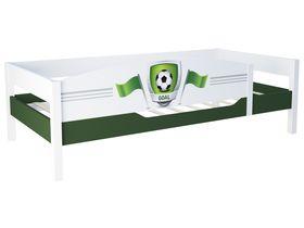 """Кровать одноярусная из массива бука с бортом  """"Футбол"""""""