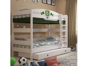 """Детская двухъярусная кровать в детскую 160 см """"Футбол"""""""