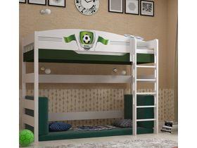 """Кровать чердак 160 см из массива бука """"Футбол"""""""