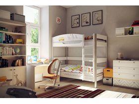 """Детская двухъярусная кровать """"Гео"""" с ящиком"""