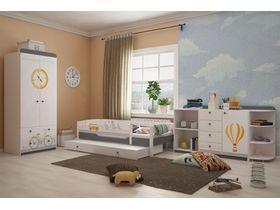 """Детская комната для мальчика """"Гео"""" с кроватью из массива бука"""
