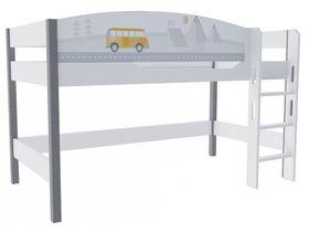 """Кровать чердак 120 см из массива бука """"Гео"""""""