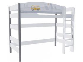 """Кровать чердак в детскую на высоту 160 см из массива бука """"Гео"""""""