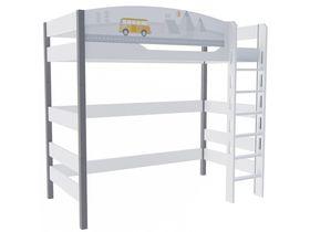 """Кровать чердак 180 см из массива бука """"Гео"""""""