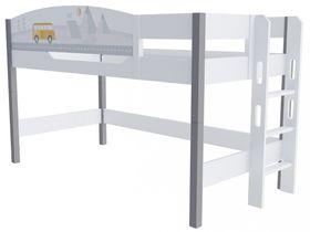 """Кровать чердак 120 см и лестницей с торца """"Гео"""""""