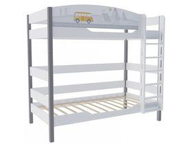 """Детская двухъярусная кровать 160 см в детскую из массива бука """"Гео"""""""