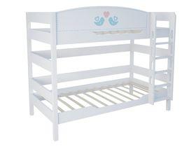 """Детская двухъярусная кровать 160 см из массива бука """"Кошки"""""""