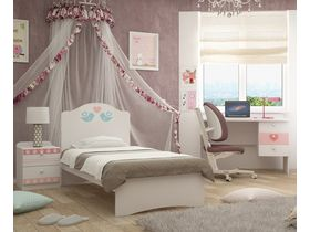 """Кровать в комнату для девочки из коллекции """"Кошки"""""""