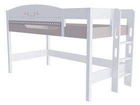 """Кровать чердак 120 см и лестницей с торца """"Mon coure"""""""