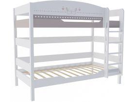 """Двухъярусная кровать 160 см в комнату для девочек из массива бука """"Mon coure"""""""