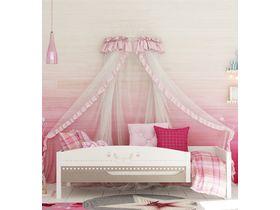 """Кровать c бортом и ящиком из массива бука в спальню для девочки """"Mon coure"""""""