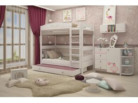 """Детская комната для двух девочек """"Mon coure"""" c двухъярусной кроватью"""