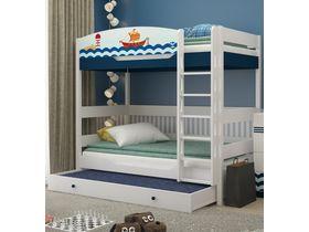 """Двухъярусная кровать в детскую 180 см из массива бука """"Морская"""""""
