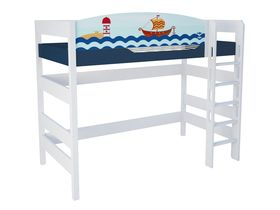 """Кровать чердак 160 см из массива бука """"Морская"""""""