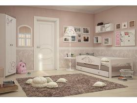 """Детская светлая комната для девочки с кроватью из массива бука """"Парижанка"""""""