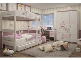 """Светлая комната для двух девочек """"Парижанка"""""""