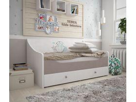 """Кровать-диван в бирюзовых тонах из коллекции """"Парижанка"""""""