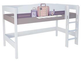 """Светлая кровать чердак в детскую из массива бука на высоту 120 см """"Париж"""""""