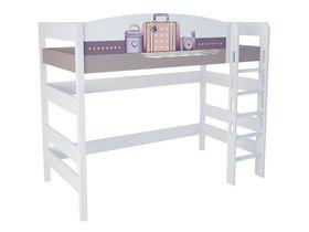 """Кровать чердак из массива бука в детскую на высоту 160 см """"Париж"""""""