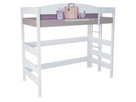 """Кровать чердак из массива бука в комнату для девочки высотой 180 см """"Париж"""""""