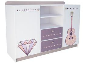 """Комод с двумя ящиками в комнату для девочки из коллекции """"Париж"""""""