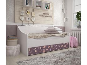 """Светлая кровать-диван в детскую из коллекции """"Париж"""""""