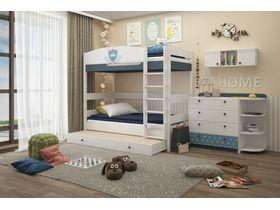 """Двухъярусная кровать 180 см в из массива бука в детскую комнату """"Шато"""""""