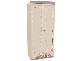 """Детский двухдверный шкаф без ящиков в комнату девочки из коллекции """"Сиена"""""""