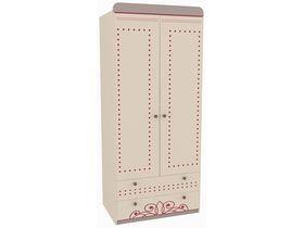 """Детский двухдверный шкаф с двумя ящиками в комнату девочки из коллекции """"Сиена"""""""