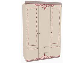 """Детский шкаф трехдверный в комнату девочки из коллекции """"Сиена"""""""