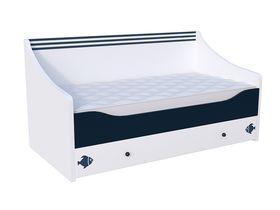 """Детская кровать """"Морская"""" в белом цвете для мальчиков в нескольких размерах"""