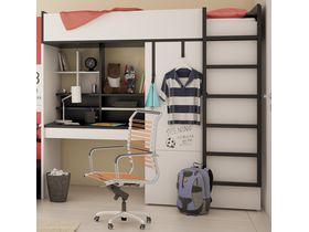 Детская кровать-чердак с рабочей зоной и шкафом Young Users (Композиция 1)